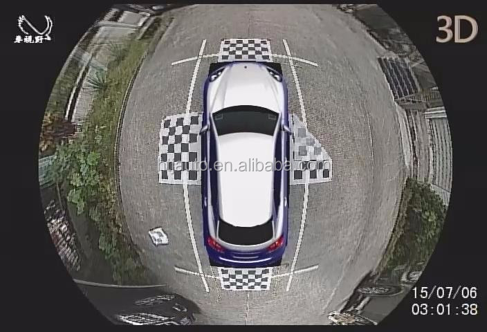 1080p 3d Hd 360 Degree Car Parking Camera With 4 Ways