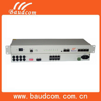 Network equipment 8 Channel Voice Phone over fiber optic converter