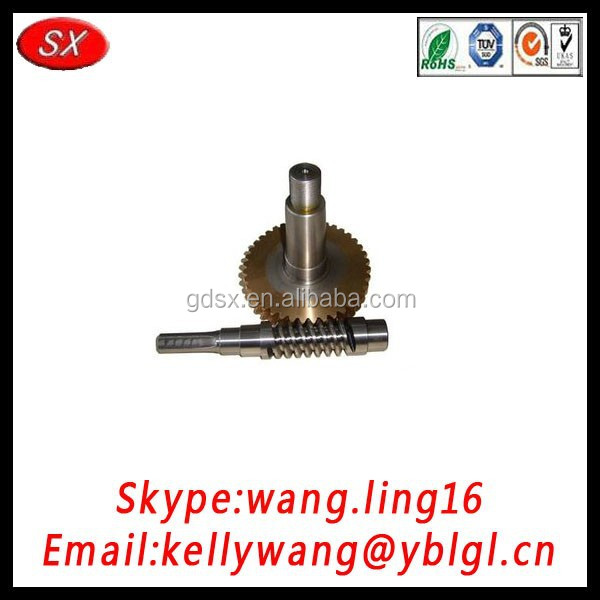 China customized OEM stainless steel mechanical worm gear, brass electric stepper monitor worm gear