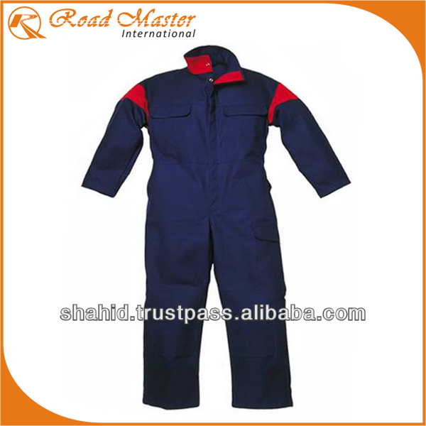 Double Color Coverall For Oil And Gas Sector
