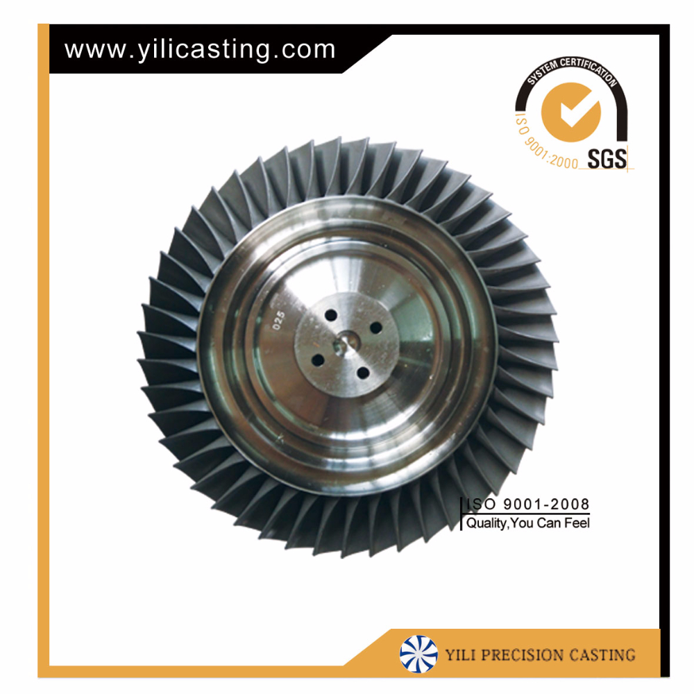 investment casting inconel 713 turbine wheel turbojet engine