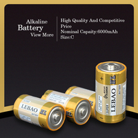 High Energy Mercury-Free Technology Alkaline Batteries C Size R14 Battery 1.5V