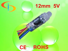 Led Rgb 12 Mm Led Pxiel Light,Dc 5v Led Point Lighting Full Color Pixel Led With Ic