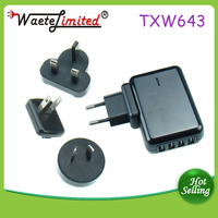 4 USB Quad Port Home/Wall/Travel Charger with 2A Output