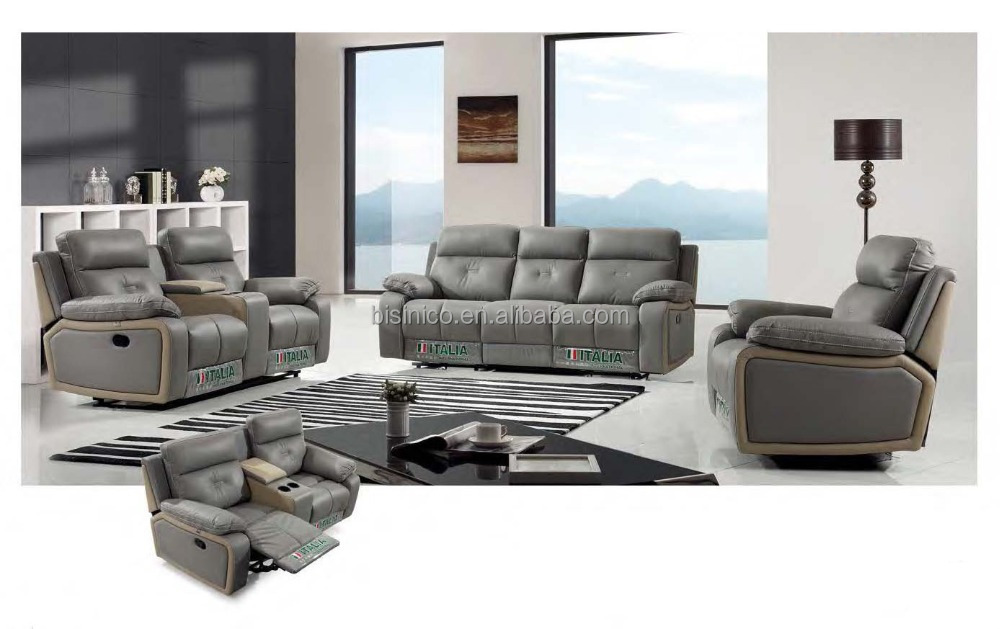 Bisini Italy Living Room Sofa Furniture Set with Recliner
