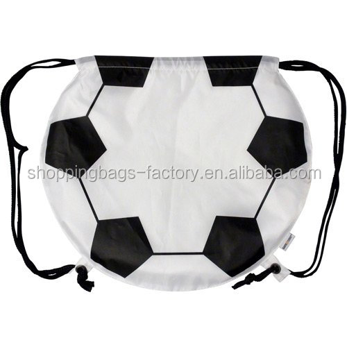 Custom soccer ball gym beach drawstring backpack bags