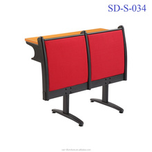No.SD-S-034 China Ergonomic Wooden Folding University Student Table And Chair