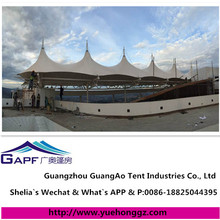Popular outdoor customized tensile membrane white cloth shade