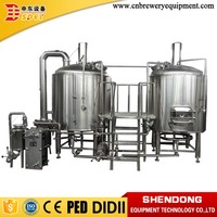 Modern Stainless Steel 2 Vessels Brewhouse