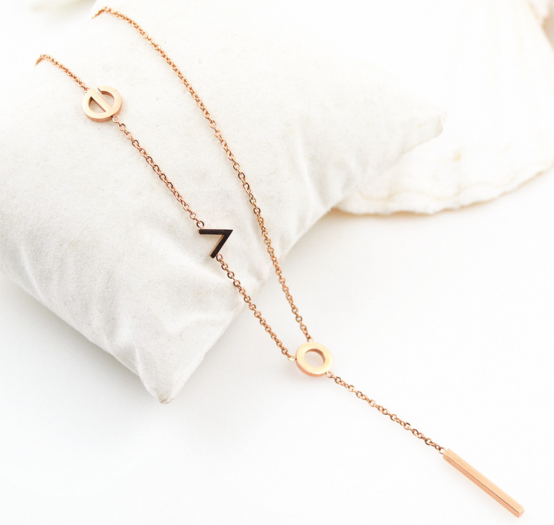 Wholesale Trendy Dubai New Long Rose Gold Chain Design Sweater Necklace for Women
