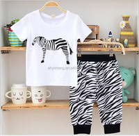 Hot sale summer baby boy casual style two piece sports suit child sets (M70111B)