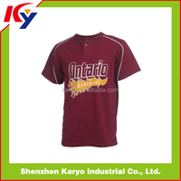 2015/2016 Fashion Button Down Sublimated Custom Baseball Jersey Wholesale