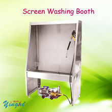Screen printing cleaning machine washing booth stencile cleaning machine