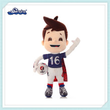 football player athletes cartoon characters plush toys for games