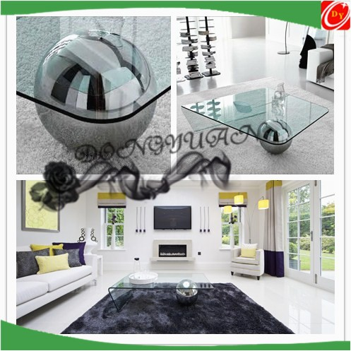 stainless steel color decorative balls for glass table