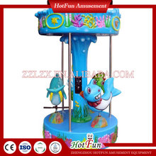 Hotfun kids entertainment mini coin operated horse ride