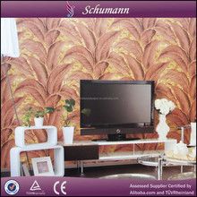 The newest 3d leaf of Japanese banana suede wallpaper