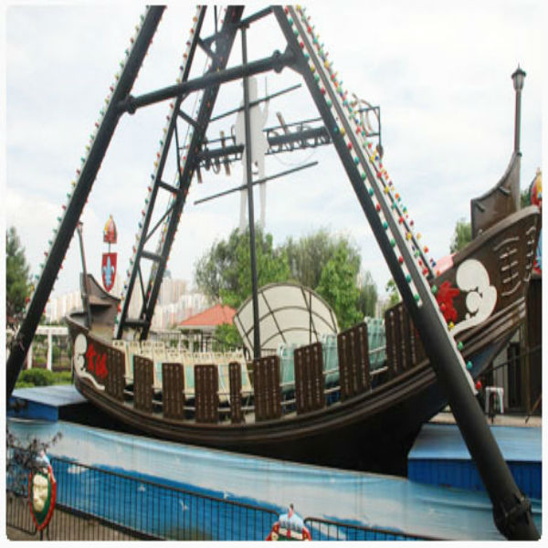 Thrill and explore journey amusement playground pirate ship of jcaptain jack
