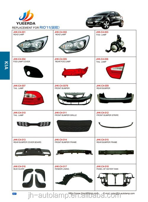Page 57 58 YUEERDA JUHAO chinese car parts RIO 2011 2012 car accessory , korean car used auto parts for RIO 2011 2012