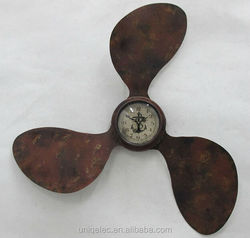 Metal Antique Clock Propeller shape