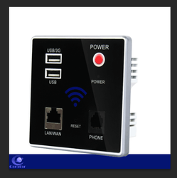 300Mbps Wireless Wall-mounted Panel AP Router, 8-16MB Optional Flash for Hotel/Restaurant/Hospital