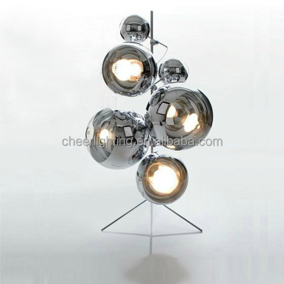 Cheer Lighting Wholesale the Modern Mirror Ball Tripod Stand Floor Lamp