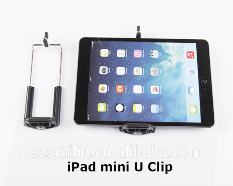 Factory OEM Best Monopod Tripod Extendable Cell Phone U Attachment Clip Mount Adapter for iPhone5s 6 7 plus Samsung S4 iPad mini