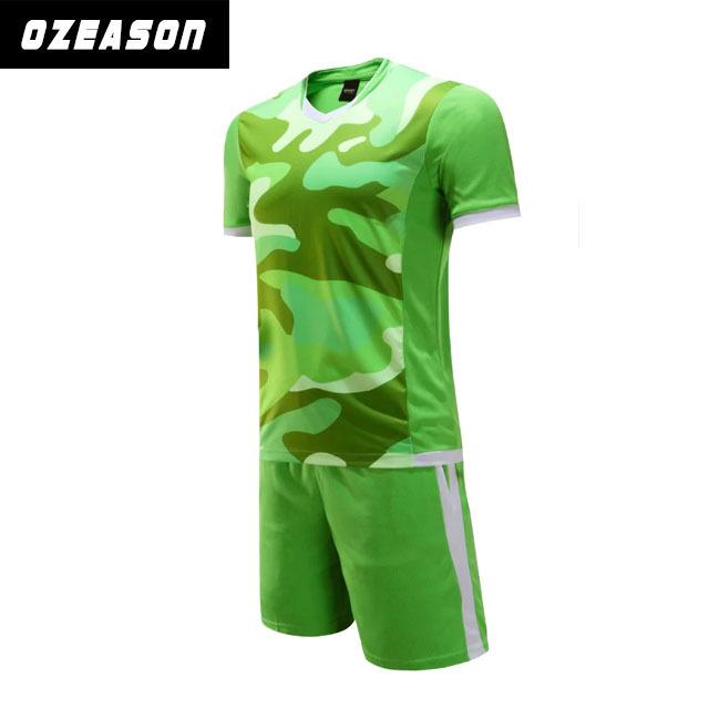Custom Sublimatiion Green Soccer Uniforms Set For Men