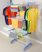 Stainless steel dry clean rotating clothes hanger rack