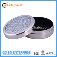 HIgh-end silver plated jewelry box with glitter epoxy