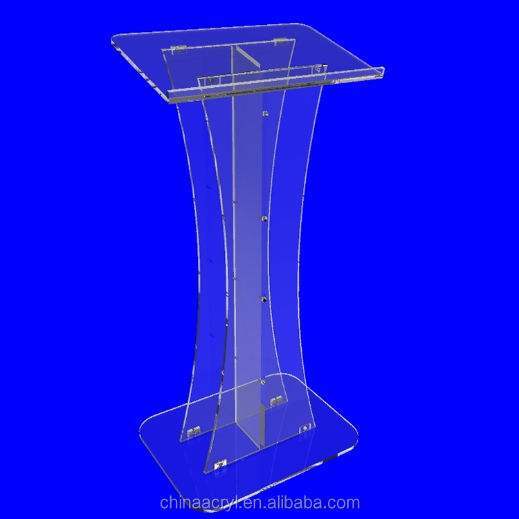Shenzhen factory OEM acrylic plexiglass church pulpit with high quality