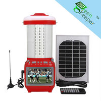 Man-carried CHL home lighting kits high battery lantern solar ener with TV