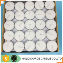 Decorative votive party scented white tealight candle in box packing