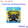 Portable Respirator Gas Mask with Double Protection Filter & Glasses