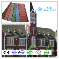 Protective Layers Color Granule Coated Roofing Tile Stainless Steel Roofing