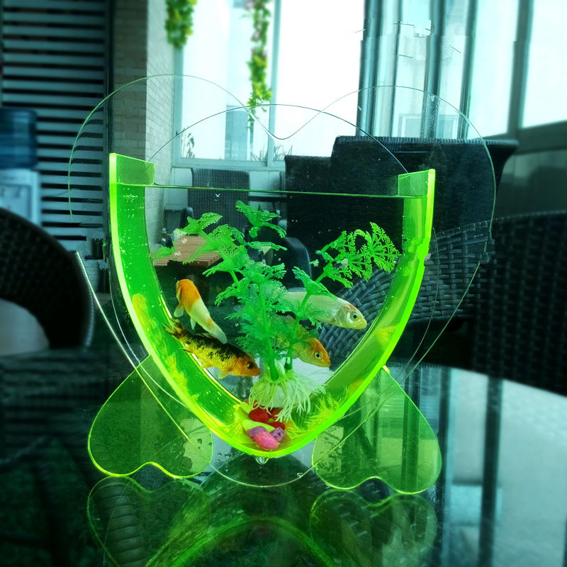 Customized Mini used acrylic fish tank for sale ,heart shaped acrylic fish tank