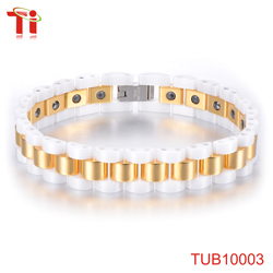 fashion gold jewelry best selling products stainless steel flexible bracelets cable bangles girls cuff pearl pearl jewelry