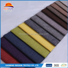 Best Choose Polyester Sofa Curtain 100% Linen Knitted Fabric