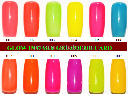 16 colors soak off nail gel polish glow in the dark UV gel polish Fluorescent Neon Luminous nails varnish glow gels light