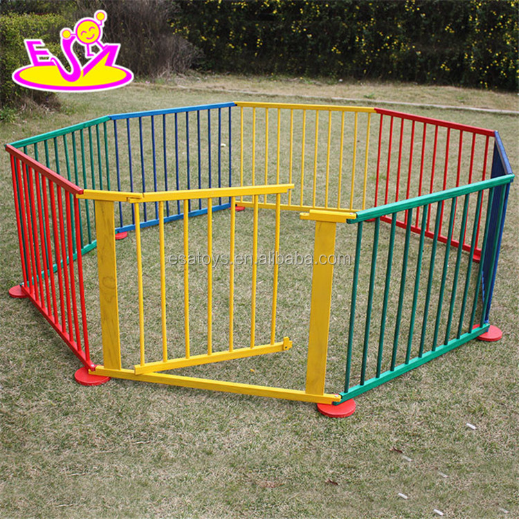 2018 New outlets wooden outside folding baby playpen,Round or Square luxury baby playpen,High quality baby safety fence W08H006