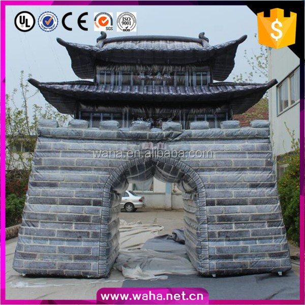 Event decoration outdoor giant inflatable building