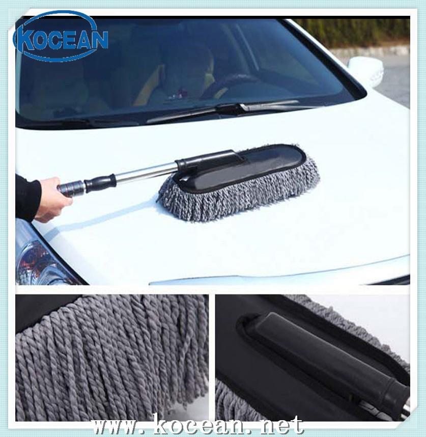 microfibre t lescopique tige de lavage de voiture brosse long manche brosse de lavage d. Black Bedroom Furniture Sets. Home Design Ideas