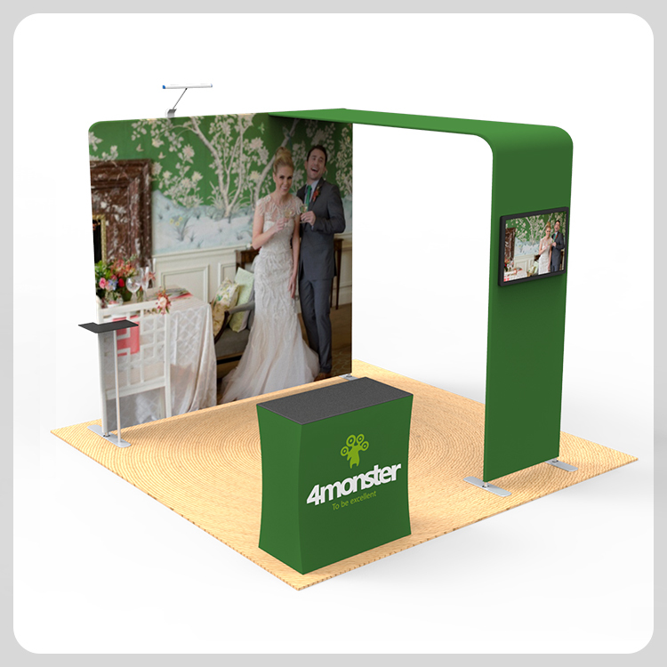 Advertising banner structure exhibition display solutions outdoor trade show booth