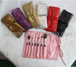 travel cosmetic mini brush sets 7pcs with make up bag