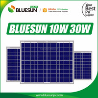 Top performance 12V poly crystalline 15w amorphous solar panel