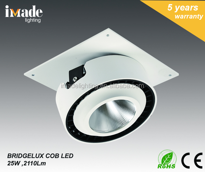 Popular White Rotation350 Die Cast Aluminum 25W COB LED Ceiling light