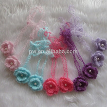 Free Shipping Wholesale Mohair Newborn Infant baby girl crochet headband Hair Bow