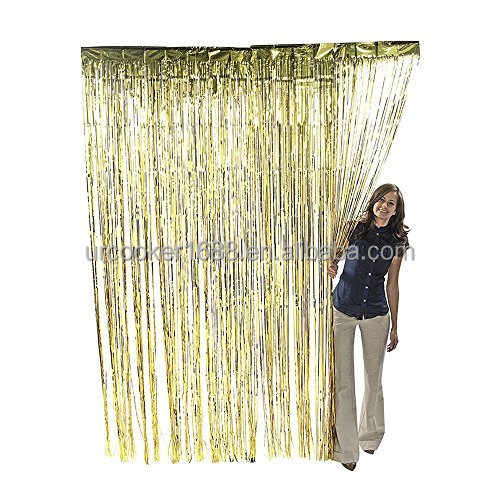 Wholesale Wedding room decoration Foil Curtains