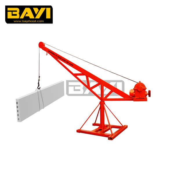 WD type 500kg electric mini hoist crane used lifting construction material machine