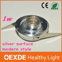 Wholesale aluminum led bulb 1w recessed ceiling profile mini tracking spot single light